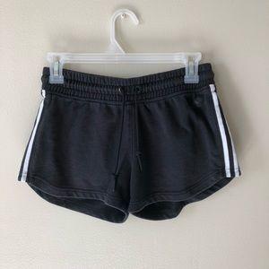 adidas • black cotton athletic shorts